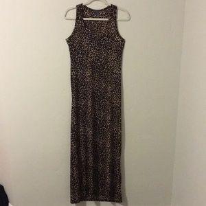 Maxi Tank Dress - Leopard Print